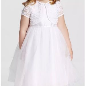 Girls Ballerina with Lace Shrug - Tevolio White 4T